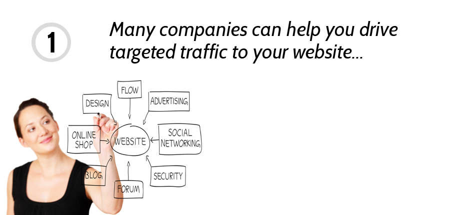 We don't drive traffic to your website