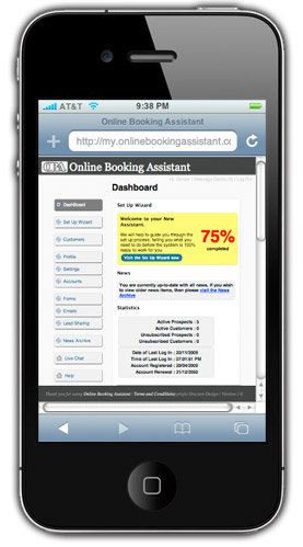 Mobile Access – Online Booking Assistant